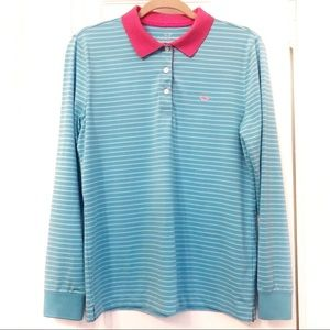 Vineyard Vines Clubhouse golf long sleeve polo